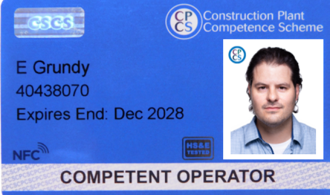 Competent Operator Card